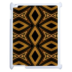 Tribal Diamonds Pattern Brown Colors Abstract Design Apple Ipad 2 Case (white) by dflcprints