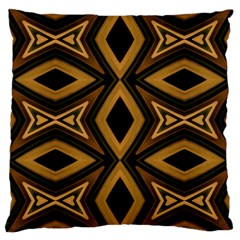 Tribal Diamonds Pattern Brown Colors Abstract Design Large Cushion Case (single Sided)  by dflcprints
