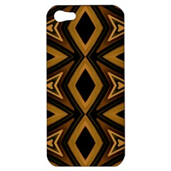 Tribal Diamonds Pattern Brown Colors Abstract Design Apple Iphone 5 Hardshell Case by dflcprints
