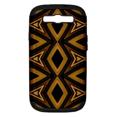 Tribal Diamonds Pattern Brown Colors Abstract Design Samsung Galaxy S Iii Hardshell Case (pc+silicone) by dflcprints
