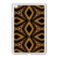 Tribal Diamonds Pattern Brown Colors Abstract Design Apple Ipad Mini Case (white) by dflcprints