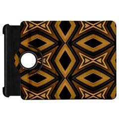 Tribal Diamonds Pattern Brown Colors Abstract Design Kindle Fire Hd 7  (1st Gen) Flip 360 Case by dflcprints