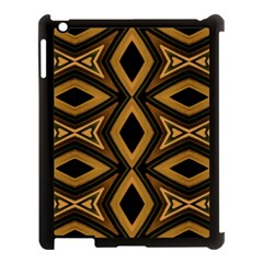 Tribal Diamonds Pattern Brown Colors Abstract Design Apple Ipad 3/4 Case (black) by dflcprints