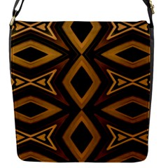 Tribal Diamonds Pattern Brown Colors Abstract Design Flap Closure Messenger Bag (small) by dflcprints