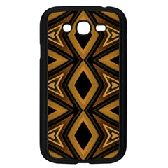 Tribal Diamonds Pattern Brown Colors Abstract Design Samsung Galaxy Grand Duos I9082 Case (black) by dflcprints