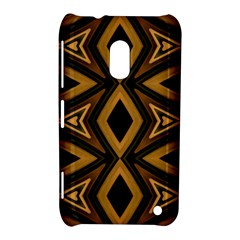 Tribal Diamonds Pattern Brown Colors Abstract Design Nokia Lumia 620 Hardshell Case by dflcprints