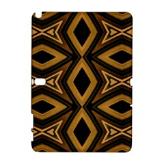 Tribal Diamonds Pattern Brown Colors Abstract Design Samsung Galaxy Note 10 1 (p600) Hardshell Case by dflcprints