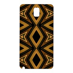Tribal Diamonds Pattern Brown Colors Abstract Design Samsung Galaxy Note 3 N9005 Hardshell Back Case by dflcprints
