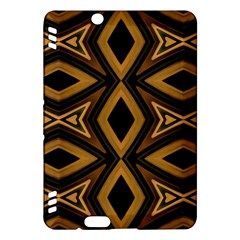 Tribal Diamonds Pattern Brown Colors Abstract Design Kindle Fire Hdx 7  Hardshell Case by dflcprints