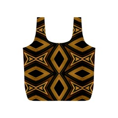 Tribal Diamonds Pattern Brown Colors Abstract Design Reusable Bag (s) by dflcprints