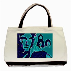 Led Zeppelin Digital Painting Twin Sided Black Tote Bag