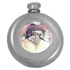 Tentacles Of Pain Hip Flask (round) by FunWithFibro