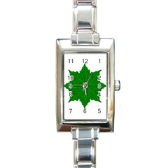 Decorative Ornament Isolated Plants Rectangular Italian Charm Watch by dflcprints