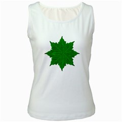 Decorative Ornament Isolated Plants Women s Tank Top (white) by dflcprints