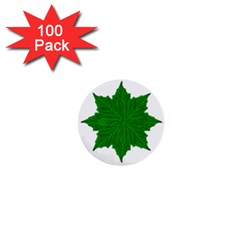 Decorative Ornament Isolated Plants 1  Mini Button (100 Pack) by dflcprints