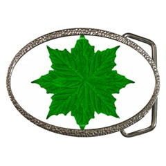 Decorative Ornament Isolated Plants Belt Buckle (oval)