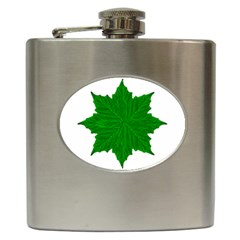 Decorative Ornament Isolated Plants Hip Flask by dflcprints