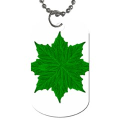 Decorative Ornament Isolated Plants Dog Tag (two Sided)  by dflcprints
