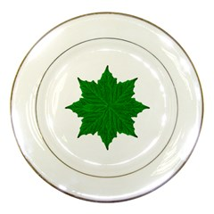 Decorative Ornament Isolated Plants Porcelain Display Plate by dflcprints