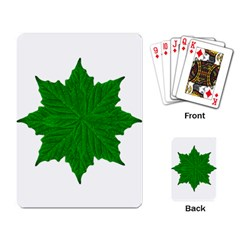 Decorative Ornament Isolated Plants Playing Cards Single Design by dflcprints