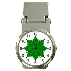 Decorative Ornament Isolated Plants Money Clip With Watch by dflcprints