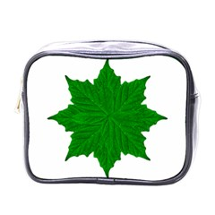 Decorative Ornament Isolated Plants Mini Travel Toiletry Bag (one Side) by dflcprints