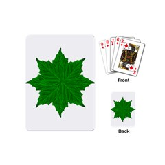 Decorative Ornament Isolated Plants Playing Cards (Mini)