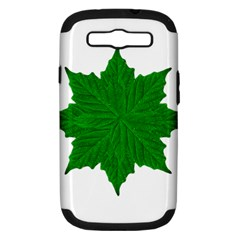 Decorative Ornament Isolated Plants Samsung Galaxy S Iii Hardshell Case (pc+silicone) by dflcprints