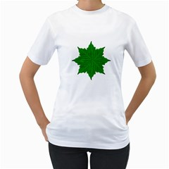 Decorative Ornament Isolated Plants Women s T Shirt (white)  by dflcprints