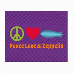 Peace Love & Zeppelin Glasses Cloth (small, Two Sided) by SaraThePixelPixie