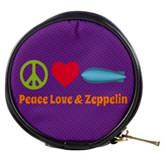 Peace Love & Zeppelin Mini Makeup Case by SaraThePixelPixie