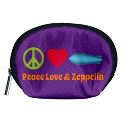 Peace Love & Zeppelin Accessory Pouch (medium) by SaraThePixelPixie