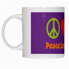 Peace Love & Zeppelin White Coffee Mug by SaraThePixelPixie