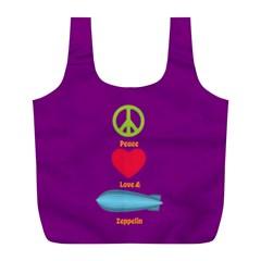 Peace Love & Zeppelin Reusable Bag (L) by SaraThePixelPixie