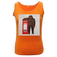 Big Foot & Phonebox  Women s Tank Top (Dark Colored) by creationtruth