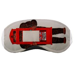 Big Foot In Phonebox  Sleeping Mask by creationtruth
