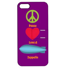 Peace Love & Zeppelin Apple Iphone 5 Hardshell Case With Stand by SaraThePixelPixie