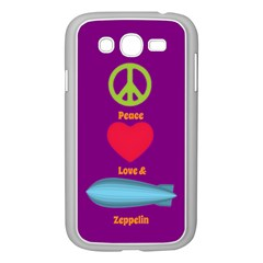 Peace Love & Zeppelin Samsung Galaxy Grand Duos I9082 Case (white) by SaraThePixelPixie