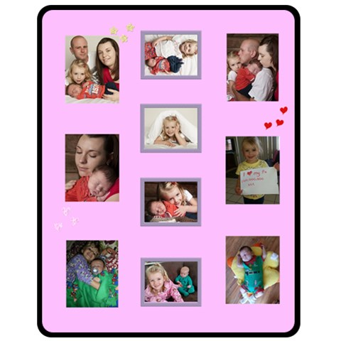 Phil Pink 1 By Michele   Fleece Blanket (medium)   Ascpr3km8nup   Www Artscow Com 60 x50 Blanket Front