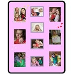 Phil Pink 1 - Fleece Blanket (Medium)