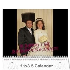 Chava Anniversary By Chava Landau   Wall Calendar 11  X 8 5  (18 Months)   3dwr0u8i1779   Www Artscow Com Cover
