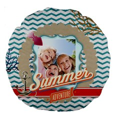 Summer By Summer Time    Large 18  Premium Round Cushion    Kqic7hv43ua2   Www Artscow Com Front