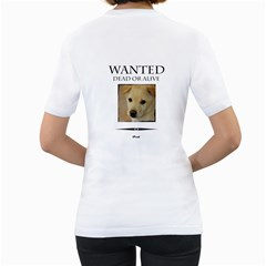 Pet By Divad Brown   Women s T Shirt (white) (two Sided)   Isd1omxr516u   Www Artscow Com Back
