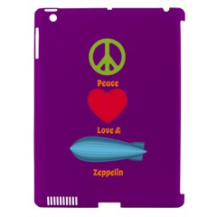Peace Love & Zeppelin Apple Ipad 3/4 Hardshell Case (compatible With Smart Cover) by SaraThePixelPixie