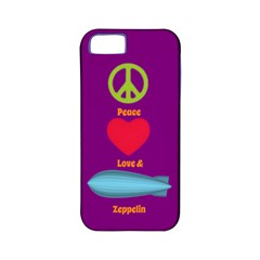 Peace Love & Zeppelin Apple Iphone 5 Classic Hardshell Case (pc+silicone) by SaraThePixelPixie