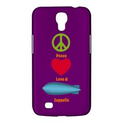 Peace Love & Zeppelin Samsung Galaxy Mega 6 3  I9200 Hardshell Case by SaraThePixelPixie