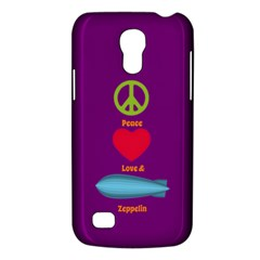 Peace Love & Zeppelin Samsung Galaxy S4 Mini (gt I9190) Hardshell Case  by SaraThePixelPixie