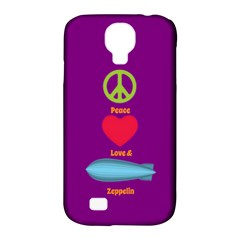 Peace Love & Zeppelin Samsung Galaxy S4 Classic Hardshell Case (pc+silicone) by SaraThePixelPixie
