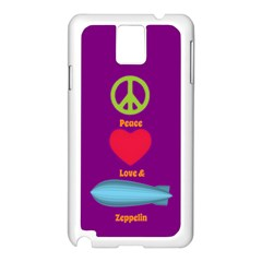 Peace Love & Zeppelin Samsung Galaxy Note 3 N9005 Case (white) by SaraThePixelPixie
