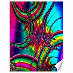Abstract Neon Fractal Rainbows Canvas 18  X 24  (unframed) by StuffOrSomething